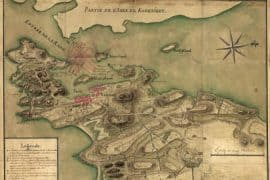 Map - 1780 – Plan de la Ville, Port, et rade de Newport