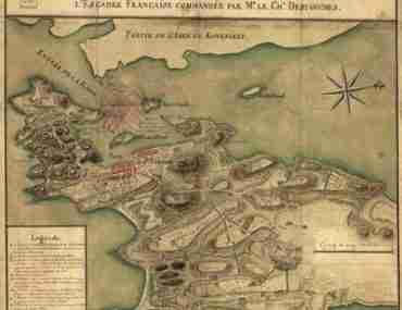 Map - 1780 – Plan de la Ville, Port, et rade de Newport