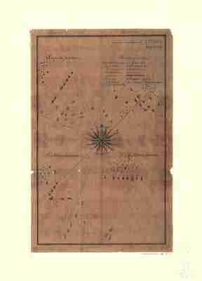 Map - 1780 – Quatre Positions de la Flotte Francaise et Positions de la Flotte Anglaise