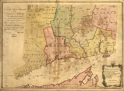 Map - 1766 – The Plan of the Colony of Connecticut in North America