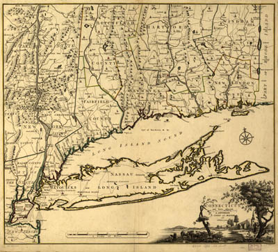 Map - 1780 – Connecticut and Parts Adjacent, at Amsterdam
