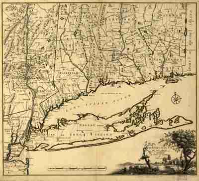 Map - 1780 – Connecticut and Parts Adjacent
