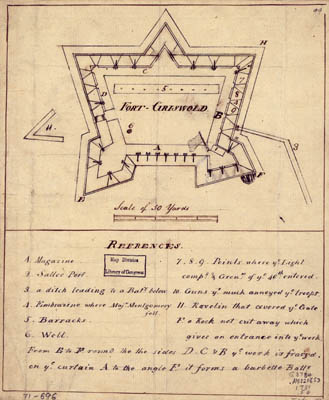 Map - 1781 – Fort Griswold