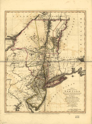 Map - 1776 – A Map of the Province of New York