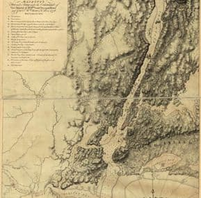 Map - 1777 – A Sketch of the Operations of His Majesty;s Fleet and Army