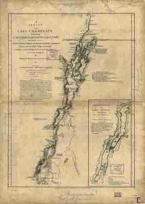 Map - 1776 – A Survey of Lake Champlain