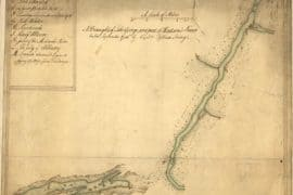 Map - 1756 – A Draught of Lake George and Part of Hudson's River