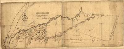 Map - 1753 – Draft of the Lands Disputed by Philipse Patent Against Beekmans and Rambaults