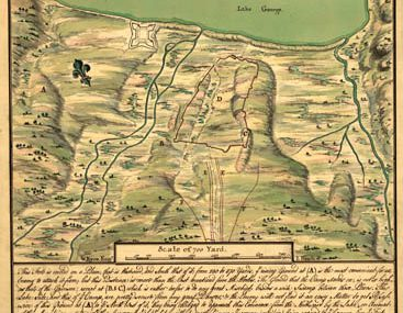 Map - 1755 – Plan of Fort William Henry and Camp at Lake George