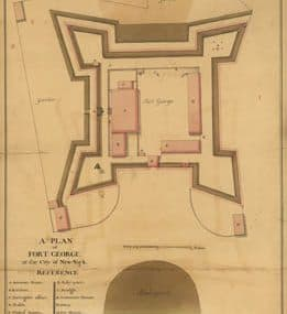 Map - 1773 – A Plan of Fort George at the City of New York