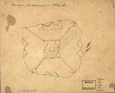 Map - 1766 – Design for Governor's Island