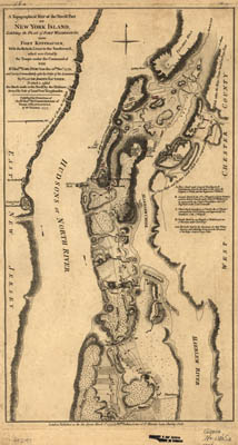 Map - 1777 – A Topographical Map of the Northern Part of New York