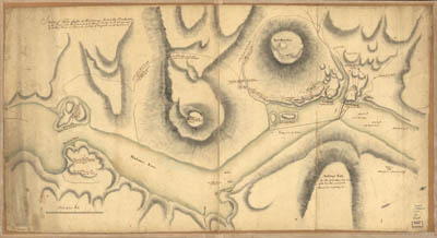 Map - 1776 – Sketch of Forts Clinton and Montgomery