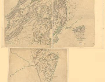 Map - 1769 – Map of Northern New Jersey, with Reference to the Boundary Between New Jersey and New York