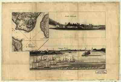 Map - 1780 – Plan d'Amboy. Wues de la rade de Charlestown st de Fort Sullivan