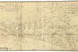 Map - 1781 – A Map of Monmouth County