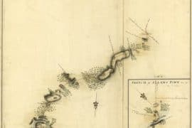 Map - 1778 – Sketch of the Road from Black Horse to Crosswick