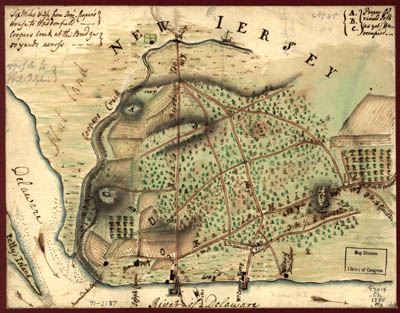 Map - 1778 – Map of the Environs of Camden, New Jersey