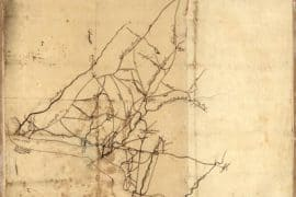 Map - 1777 – Draft of Roads in New Jersey