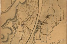 Map - 1776 – Plan of the Country at and in the Vicinity of Forts Lee and Independency
