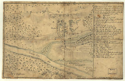 Map - 1776 – Sketch of the Engagement at Trenton