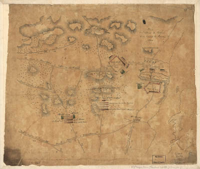 Map - 1777 – Plan de L'Affaire de Westfield and du Camp de Raway (Rahway)