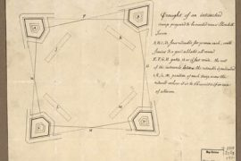Map - 177? - Draught of an Entrenched Camp Proposed to be Erected Near Elizabeth Town
