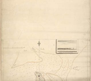 Map - 177? - Soundings of the Bar of Sandy Hook at Low Water and the Marks Made Use of for the Best Water