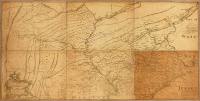 Map - 1759 – The Improved Part of the Province of Pennsylvania
