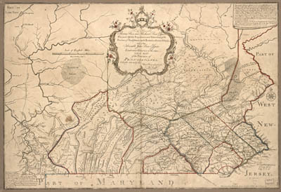 Map - 1770 – The Province of Pennsylvania