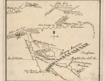 Map - 1754 – Captain Snow's Sketch that Includes Pennsylvania