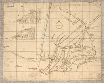 Map - 1755 – Mr. Armstrong's Rough Draft of the Country to the West of Susquehanna