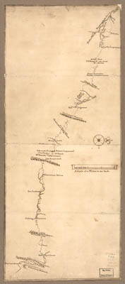 Map - 1763 – Map of a Route Through South West Pennsylvania from Fort Loundoun, Franklin County, to Fort Pitt, Pittsburgh