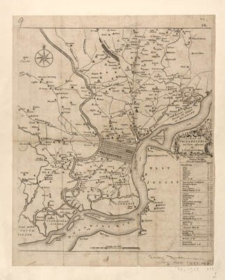 Map - 1753 – A Map of Philadelphia and Parts Adjacent