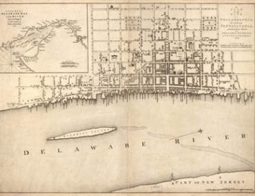 Map - 1776 – A Plan of the City of Philadelphia, the Capital of Pennsylvania, from an Actual Survey