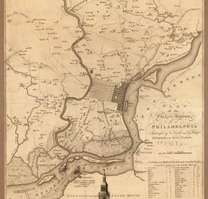 Map - 1777 – A Plan of the City and Environs of Philadelphia