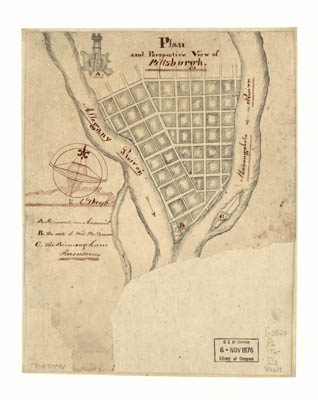 Map - 176? - Plan and Perspective View of Pittsburgh
