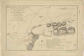 Map - 1778 – British Camp at Trudruffin Drawn by an Officer on the Spot (Battle Map)