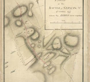 Map - 1777 – A Sketch of the Battle of Germantown