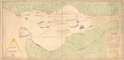 Map - 177? - A Draught of Delaware Bay