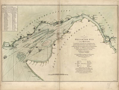 Map - 1776 – A Chart of the Delaware Bay and River