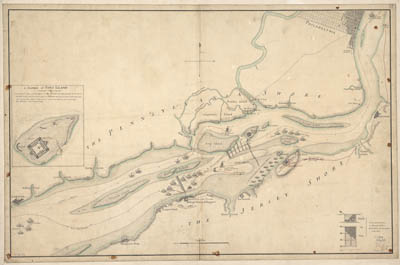Map - 1777 – The Course of Delaware River from Philadelphia to Chester
