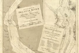Map - 1779 – A Chart of the Delaware River from Bombay Hook to Ridley Creek