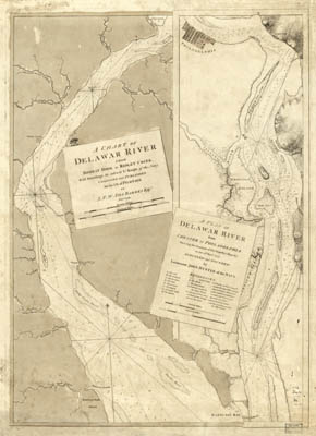 Map - 1779 – A Chart of Delaware River from Bombay Hook to Ridley Creek