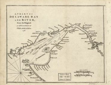 Map - 1776 – A Chart of Delaware Bay and River – From the Original