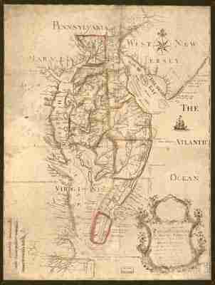 Map - 1778 – Map of the Peninsula Between the Delaware & Chesapeake Bays