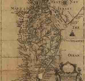 Map - 1778 – This Map of the Peninsula Between Delaware & Chesapeake Bays