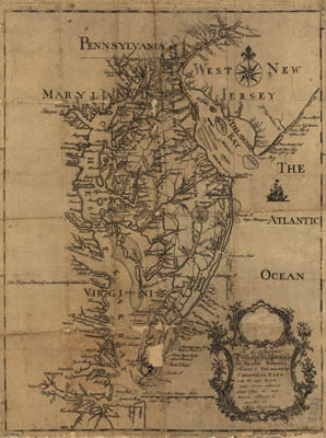 Map - 1778 – This Map of the Peninsula Between Delaware & Chesapeake Bays
