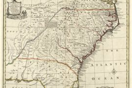 Map - 1752 – A New and Accurate Map of the Provinces of North and South Carolina, Georgia, etc.