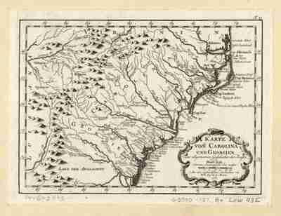 Map - 1758 – Karte von Carolina und Georgien zur Allgemeinen Geschichte der Reisen
